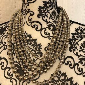 NY&Co Silver Bead Necklace